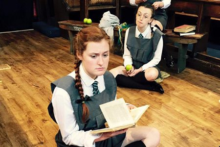 Claire Forster (Peggy Rogers) and Lydia Feerick (Rosalie Wells)