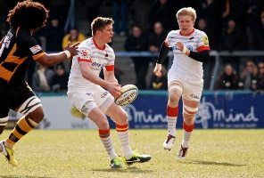 Owen Farrell (centre) will be looking to continue his good kicking form
