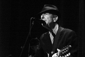 Leonard Cohen playing live
