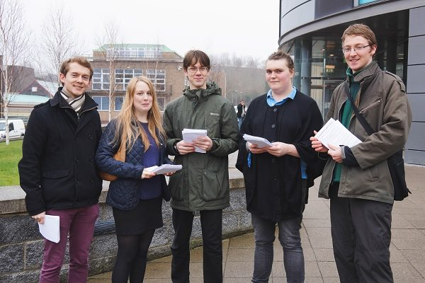 Student action at the post-offer open days