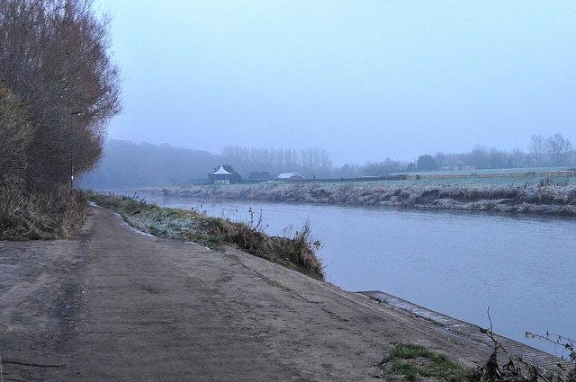 Towpath river
