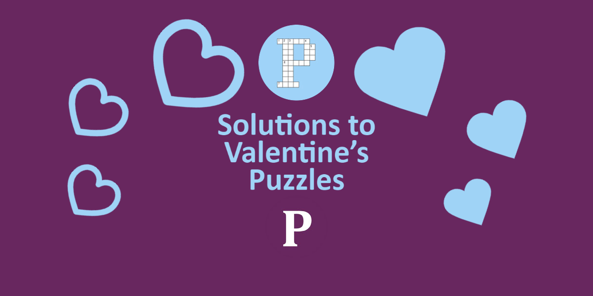 Solutions to Valentine's Puzzles Banner image